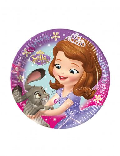 Lotto 8 piattini principessa Sofia™ in cartone