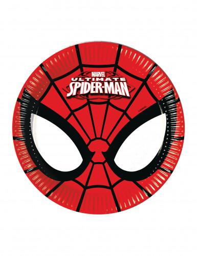 Confezione 8 piatti in cartone Ultimate Spiderman™
