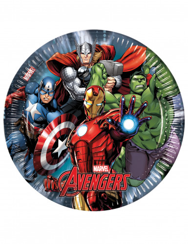 8 piatti di carta da 23 cm Avengers Power™