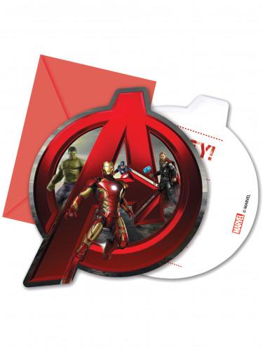 6 Biglietti d'invito con buste Avengers The Age of Ultron™
