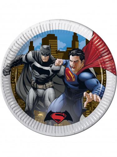 8 piatti di carta di Batman vs Superman™