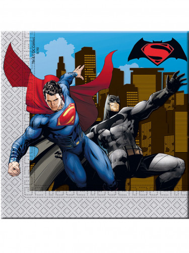 20 Tovaglioli usa e getta Batman vs Superman™