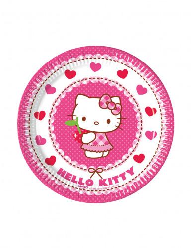 8 piatti di Hello Kitty™ in cartone