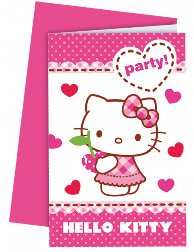 6 Inviti party con buste Hello Kitty™