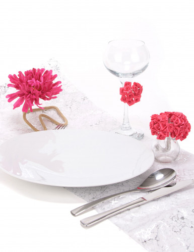 72 Mini rose di raso fucsia-2
