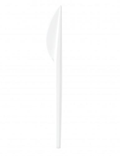 100 coltelli in plastica bianchi 16,5 cm