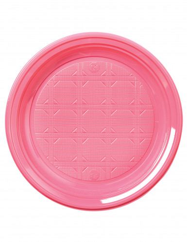 50 piattini di plastica rosa