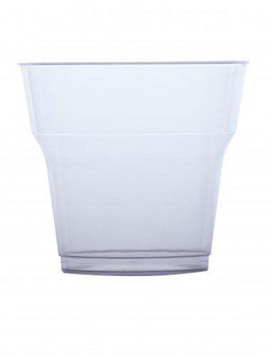 10 bicchieri di plastica trasparenti