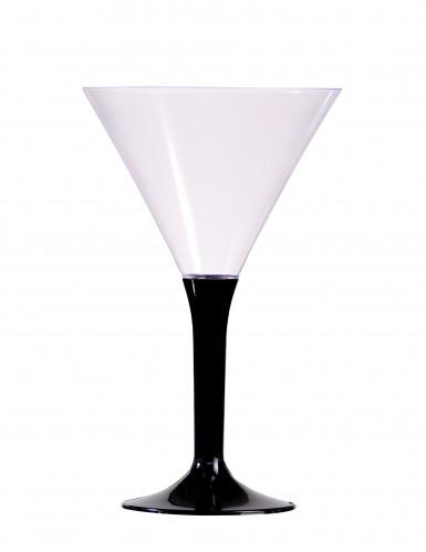 6 calici da cocktail neri 14 cm