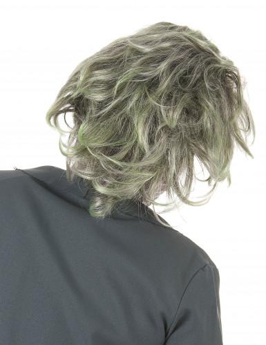 Passamontagna con parrucca zombie adulto-1