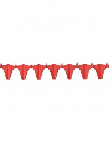 Ghirlanda di carta con tori rossi