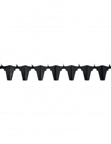 Ghirlanda di carta con tori neri