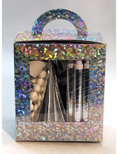 kit da festa color argento 10 persone