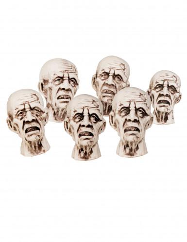 6 piccole teste da zombie