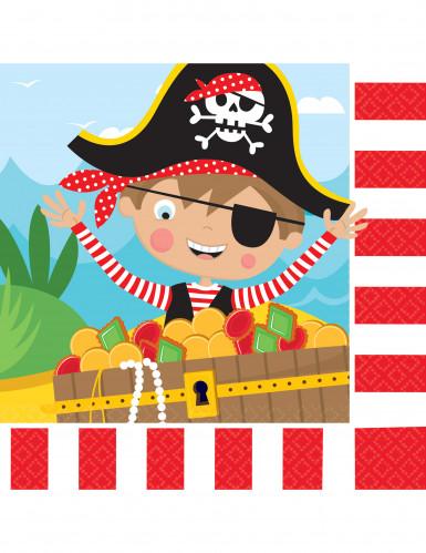 16 tovaglioli piccoli pirati 33 x 33 cm