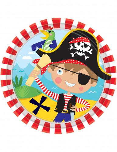 8 piccoli piatti di carta piccoli pirati