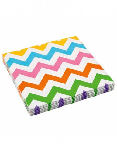 20 tovaglioli a zigzag colorati