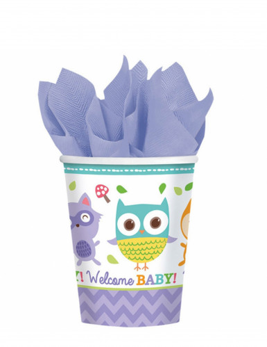 8 bicchieri di carta Welcome baby