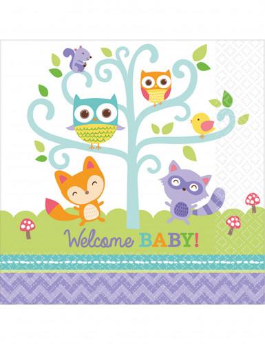 16 tovagliolini di carta Welcome Baby