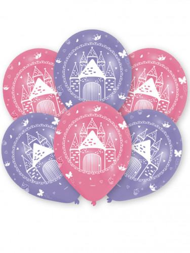 6 palloncini in lattice castello della principessa
