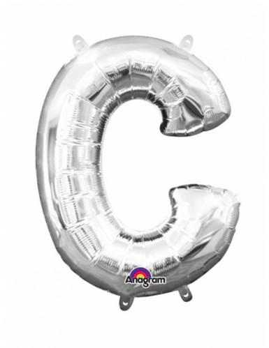 Palloncino alluminio lettera C argentato