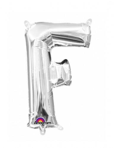 Palloncino in alluminio lettera F argentata