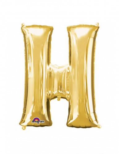 Palloncino in alluminio lettera H dorato
