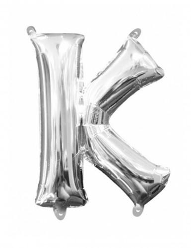 Palloncino in alluminio lettera K argentato