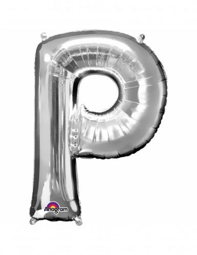 Palloncino lettera P argentata