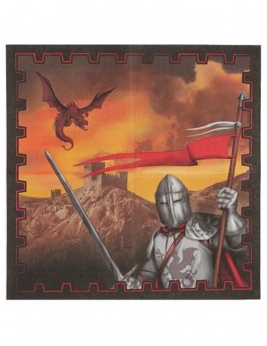 2à tovaglioli di carta del cavaliere nero-1