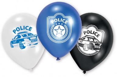 6 palloncini polizia