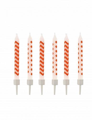10 candeline a zig zag e pois arancioni
