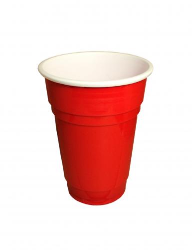 20 bicchieri di plastica rossi