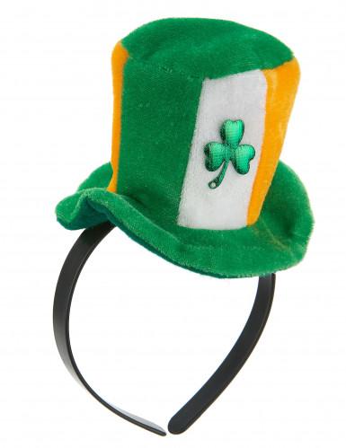 Cerchietto con mini cappello irlandese per adulti