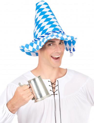 Cappello bavarese blu e bianco per adulto-2