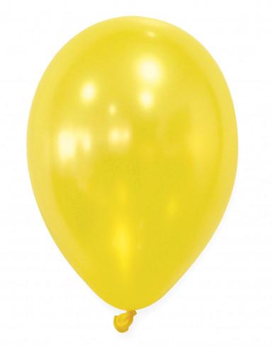 50 palloncini gialli metallizzati
