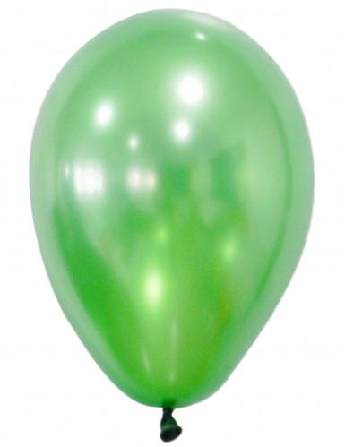 50 palloncini verde metallizzato