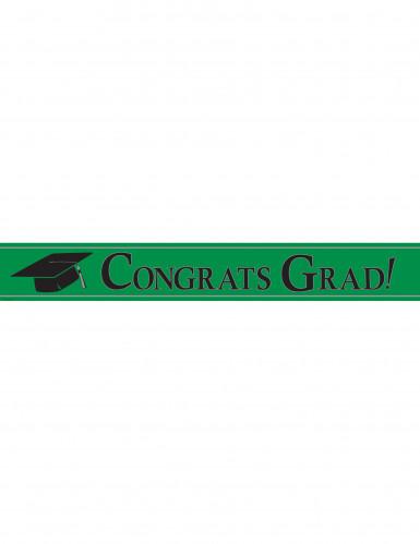 Banner metallico verde Congrats Grad