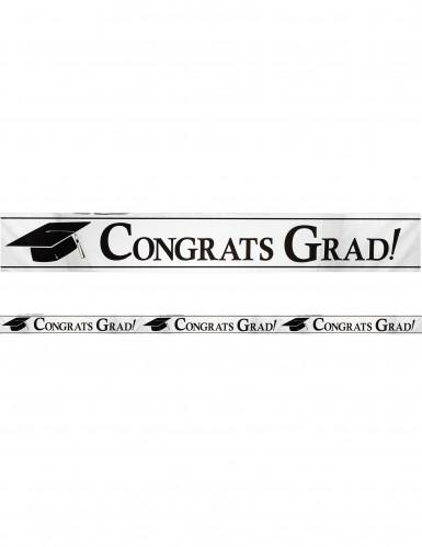 Banner metallico argentato Congrats Grad