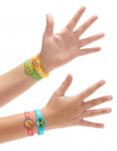 4 braccialetti di gomma Emoji™-1