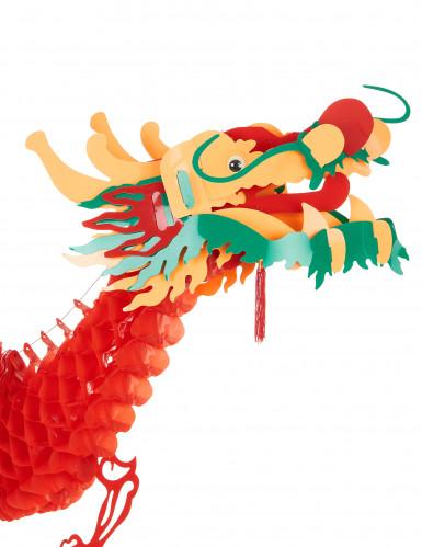 Decorazione drago rosso Capodanno cinese-1