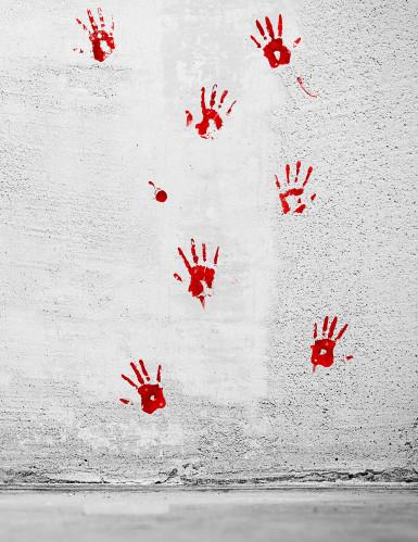 Stickers con impronte di sangue-2