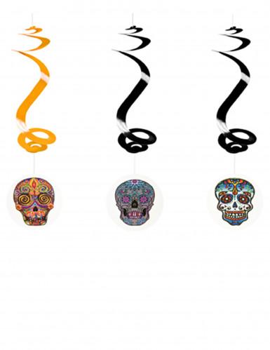 Decorazioni di Halloween 3 spirali Dia de Los Muertos