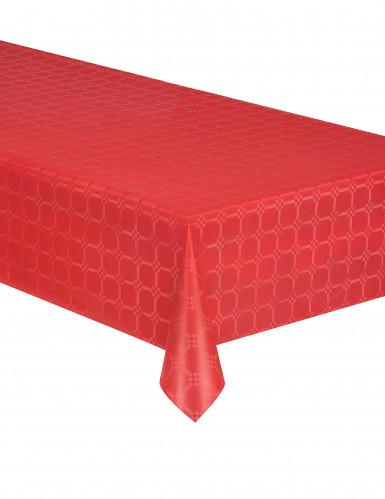 Tovaglia di carta in rotolo effetto damascato rossa