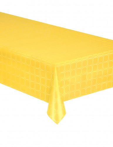 Tovaglia di carta in rotolo effetto damascato gialla