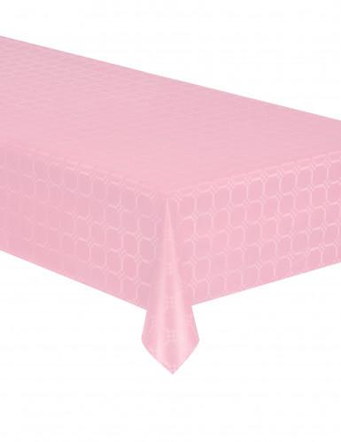 Tovaglia di carta in rotolo effetto damascato rosa chiaro