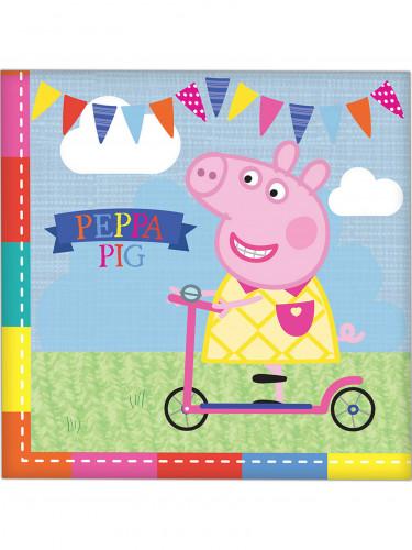 16 tovaglioli colorati Peppa Pig™
