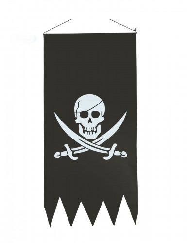 Bandiera da appendere da pirata con teschio