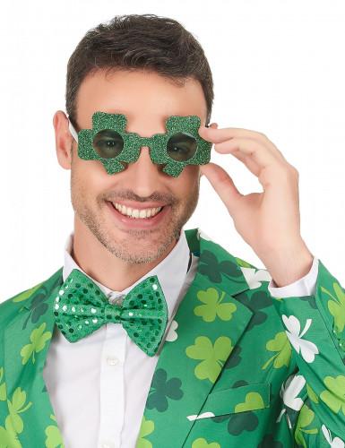 Occhiali verdi con trifoglio per San Patrizio-2