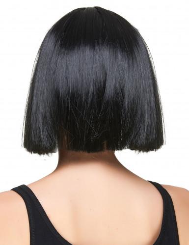 Parrucca nera a caschetto con frangia-1